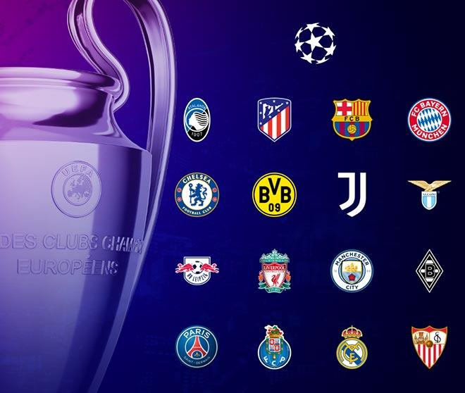 16 CLB sẽ thi đấu vòng 1/8 Champions League